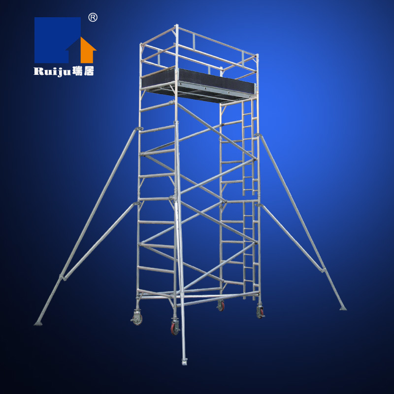 Double-Width Scaffolding with Vertical Ladder 4m