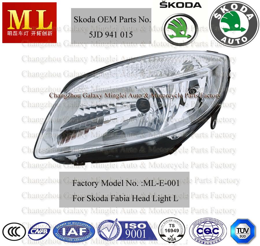 Auto Headlight for Skoda Fabia From 2007 (5J1 941 015)