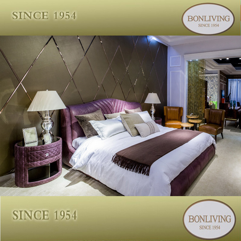 china romantic leather bedroom furniture set b009 photos pictures