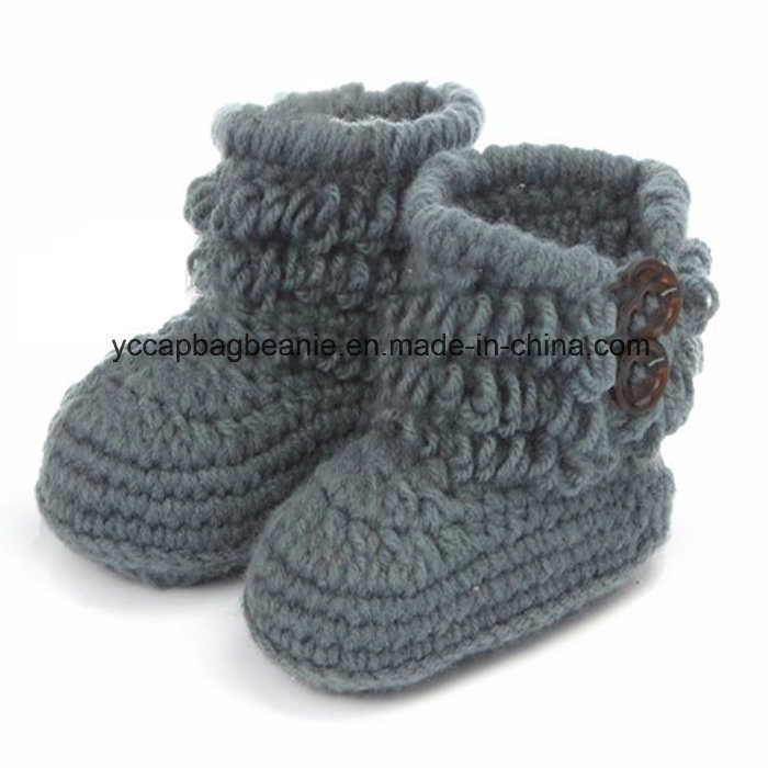 Baby Christening Handmade Crochet Knit Shoes