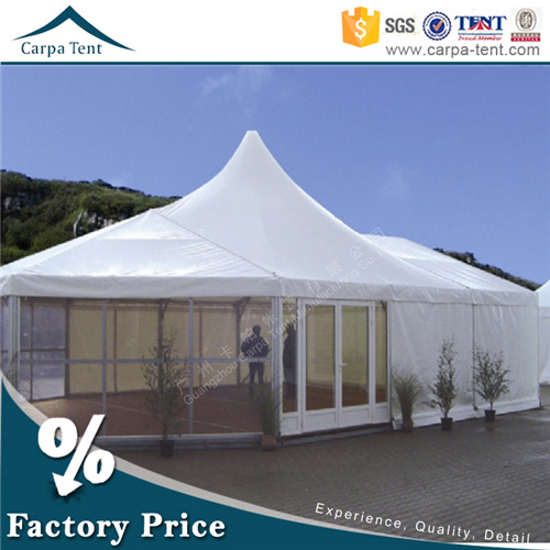 European Style Strong Snow Loading Winter Mixed Marquee Tent with PVC Fabric