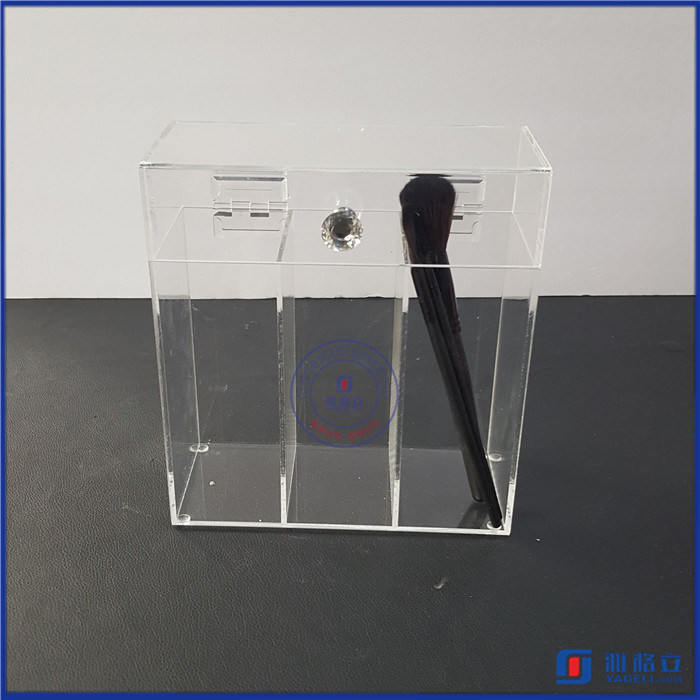 Makeup Brush Holder Dustproof Acrylic Storage Box Makeup Organizer
