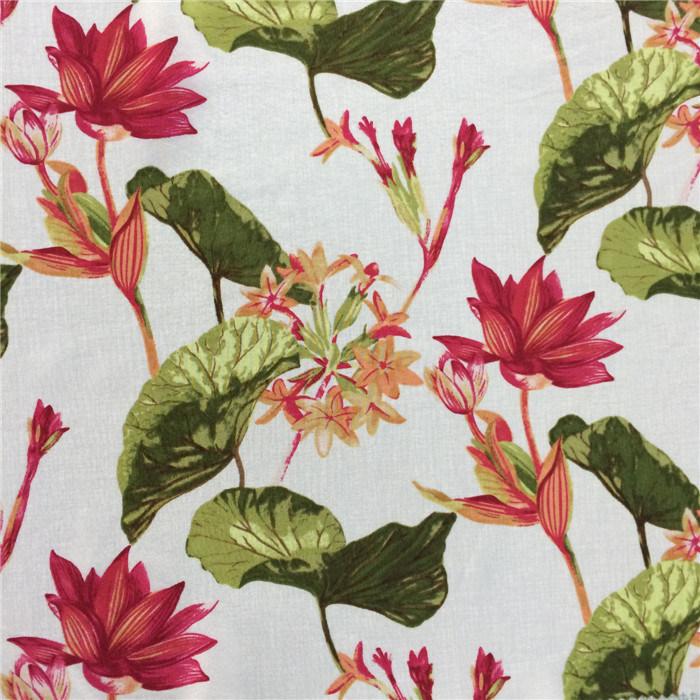 Silk Cdc Print in Flower Pattern