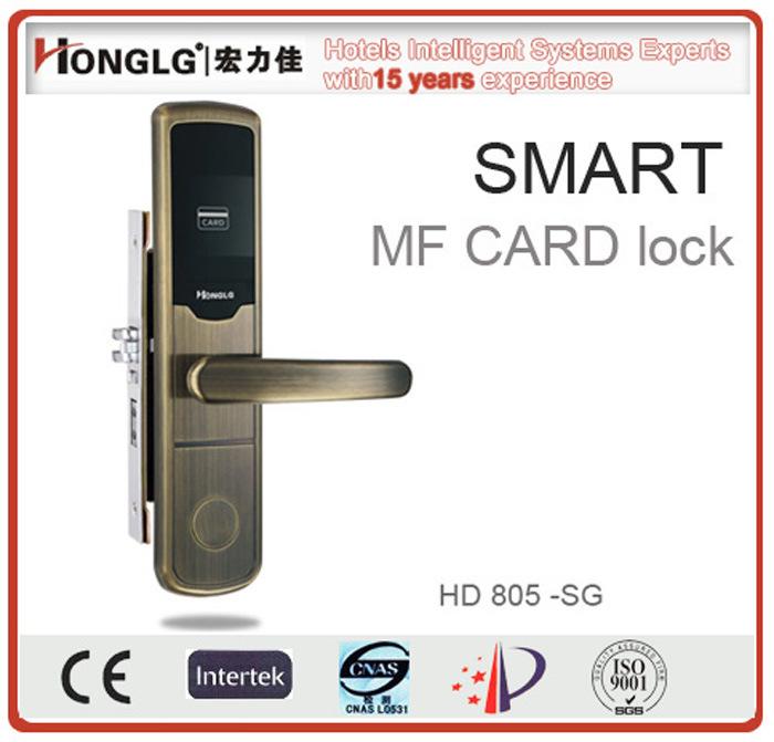 Big Panel Electronic Hotel Door Lock with Emergency Keys