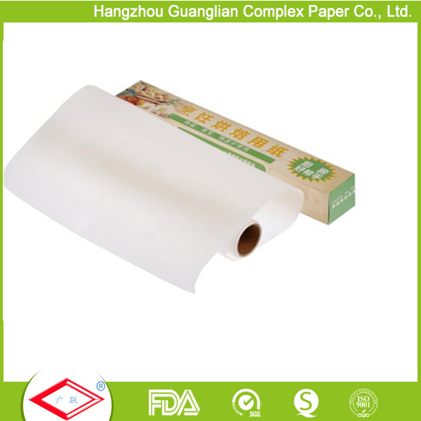 "OEM 12"" Width Non-Stick Silicone Coated Baking Paper Roll"