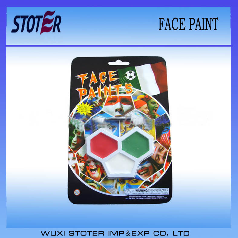 Non-Toxic Rainbow Art Colorful Football Face Paint