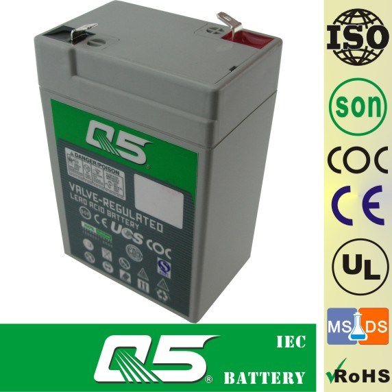 6V4.5AH, VRLA, Emergency Light, AGM, UPS, Security Alarm Sound Power, Equipment Toy Bicycle, RC Car Emergency Battery.