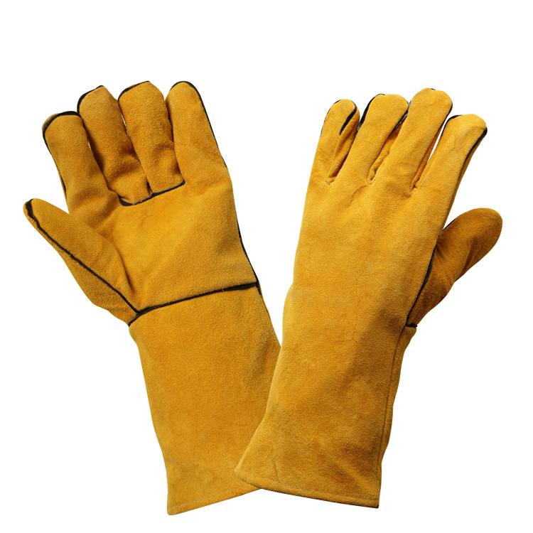 Cut Resistant Safety Leather Working Gloves / Welding Hand Protective Safety Gloves