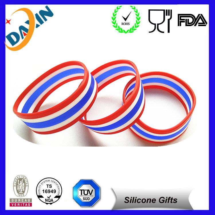 Promotional Ink Filled Silicone Bracelet, Silicon Wristband, Slap Wristband