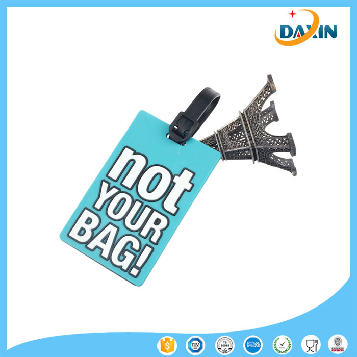 2017 Wholesale Customized Design Promotional Gift Soft Silicone Luggage Tag