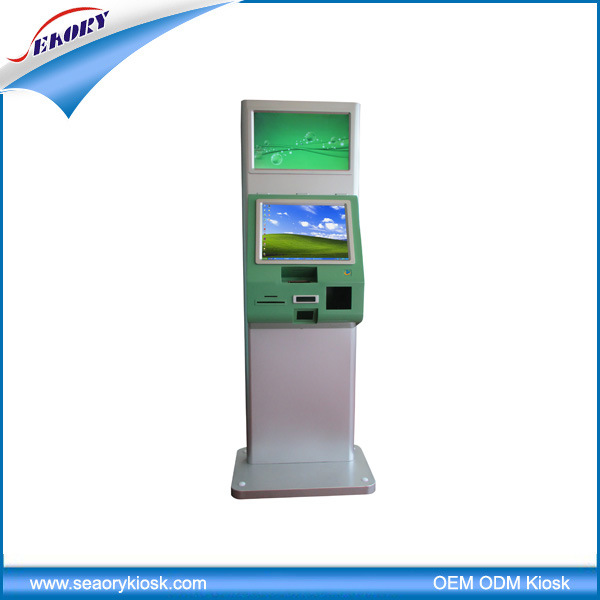 Free Standing Dual Screen Self-Service Kiosk
