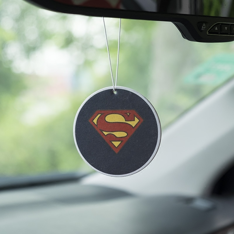 Hanging Paper/Shoe Car Solid Perfume Superhero Logo