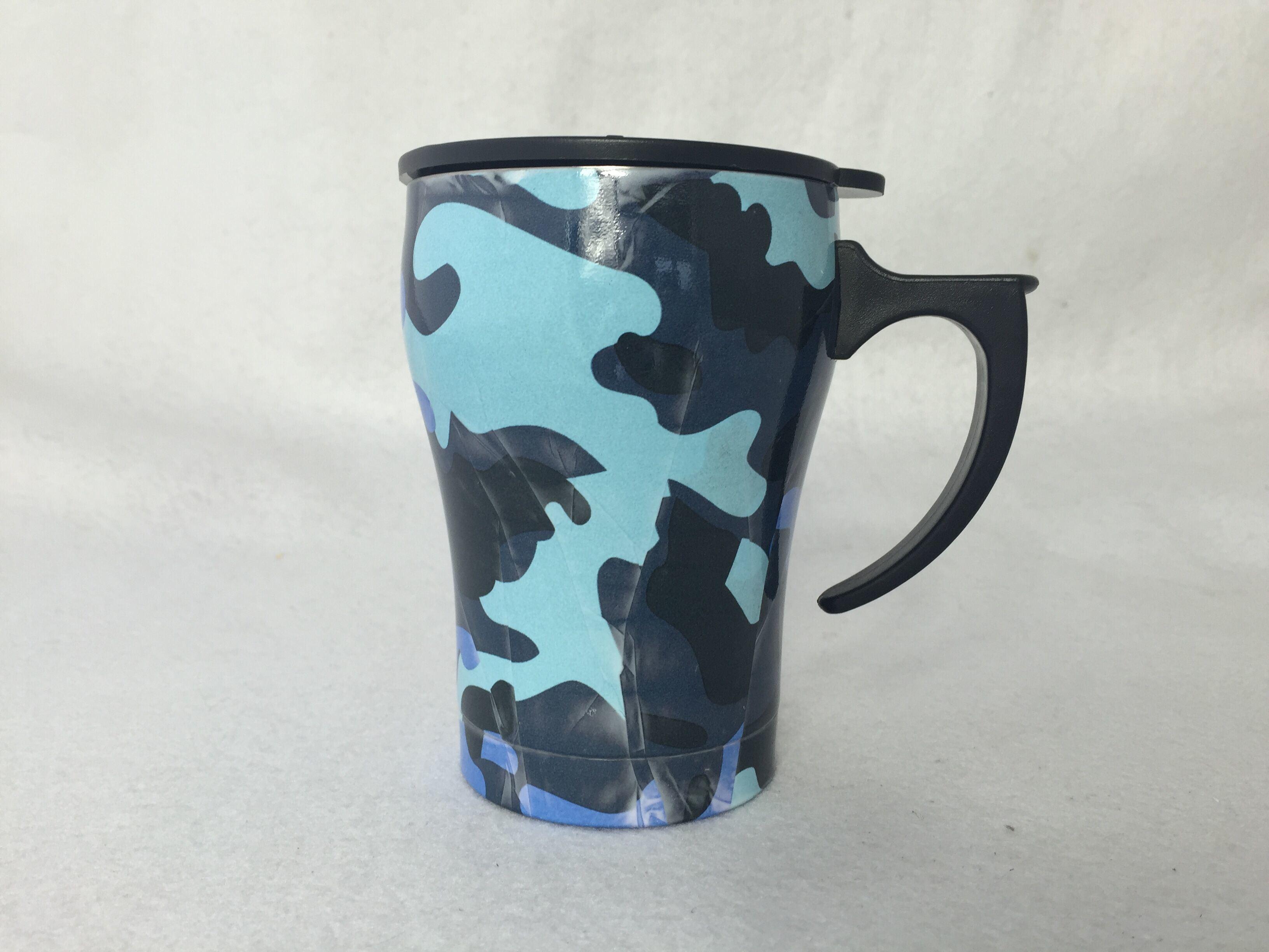 12oz Wood Grain Tumbler Coffee Mug Beer Cup Travel Pot