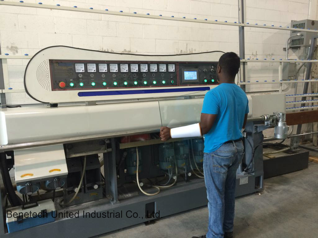 Glass Miter Machine 9spindles 45-90degree