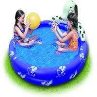 Inflatable 2-Ring Swimming Pool