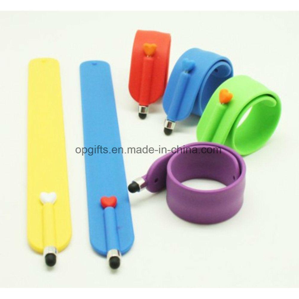 Custom PVC Snap Wrist Band/ Silicone Slap Bracelet/ Silicone Slap Band
