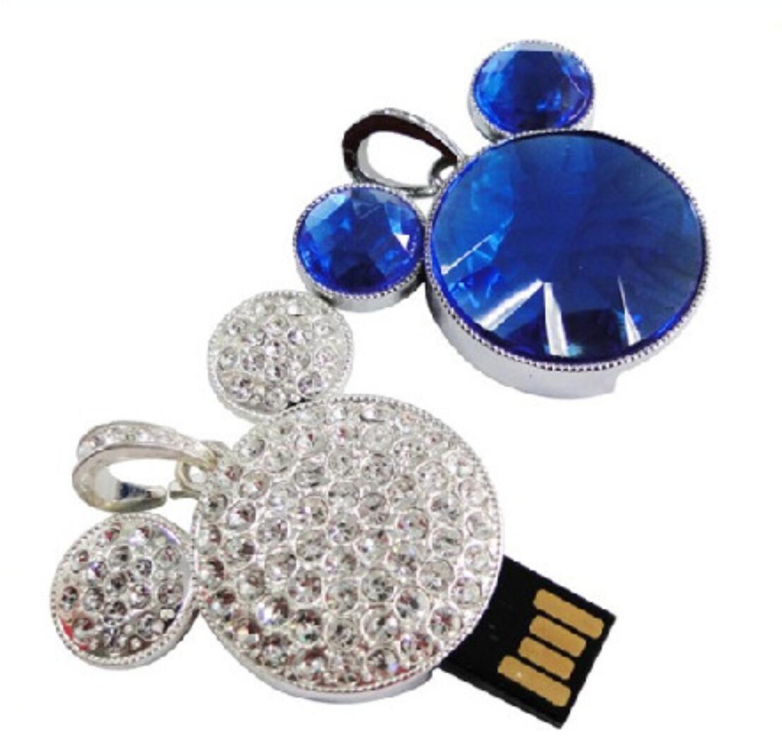 Cartoon Crystal USB Flash Drive Jewelry USB Stick