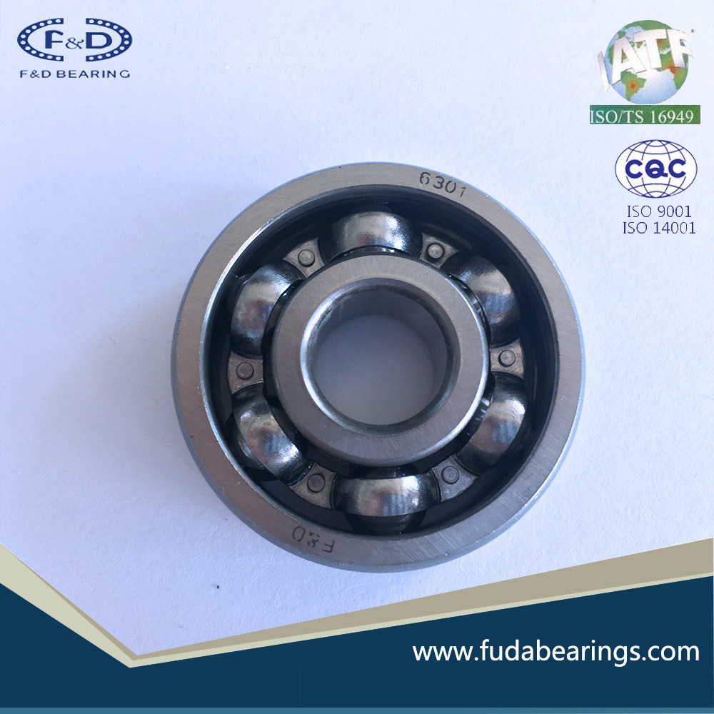 Chrome Steel Deep Groove Ball Bearing 6301 Bearing for Motor Engine