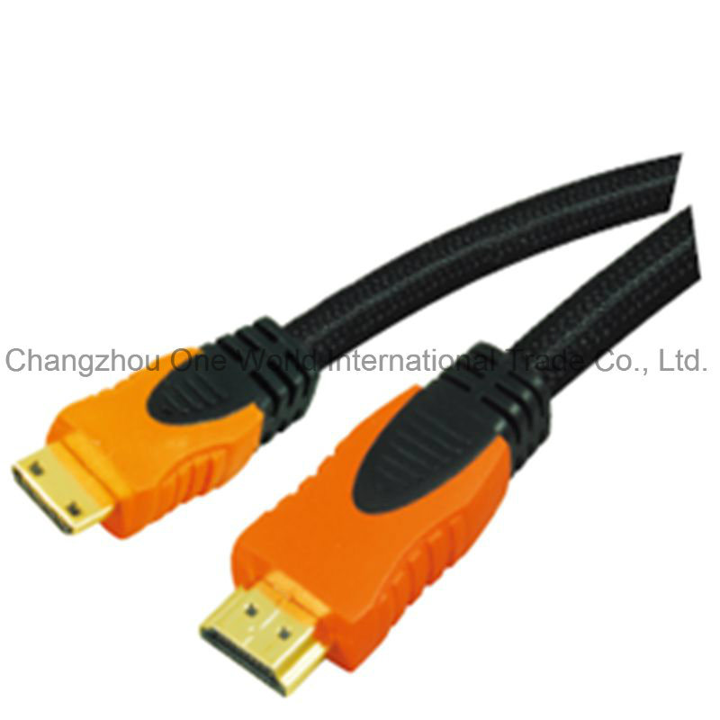 Multi-Color HDMI 19pin Plug-Mini HDMI Plug Cable