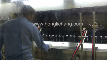 Cosmetic Caps Automatic UV Vacuum Metalizing Spray Painting Line
