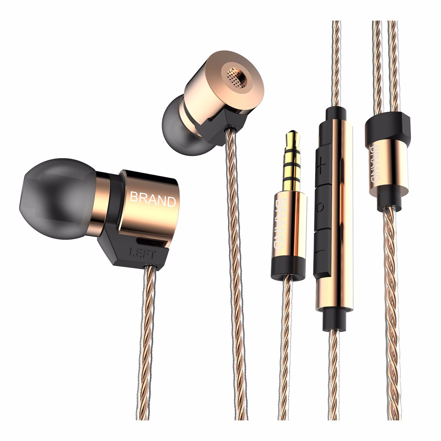 Triple Driver One Dynamic and Dual Ba Hybrid in Ear Earphone Earbuds Fashion Gifts Sport