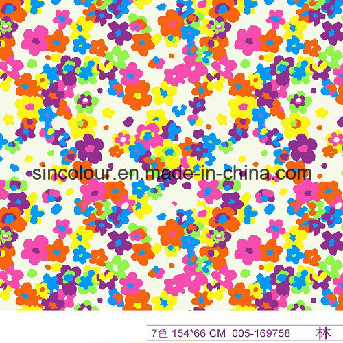 Floral Printing 80%Nylon 20%Spandex Fabric for Swimwear