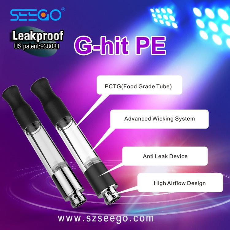 Seego Hot Selling Vape Pen E Cigarette G-Hit PE Kit Cbd Oil Tank Vape Cartridge