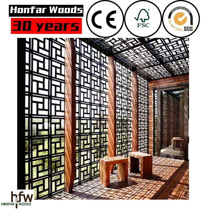 Goo Quality Wood Room Divider for Salon or Hotel Lobby