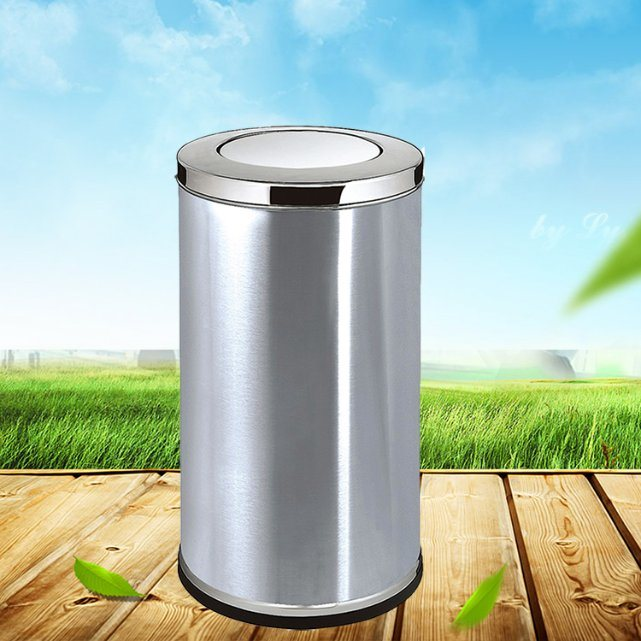 Hot Sale Public Cheap Stainless Steel Swing Lid Indoor Recycle Trash Bin