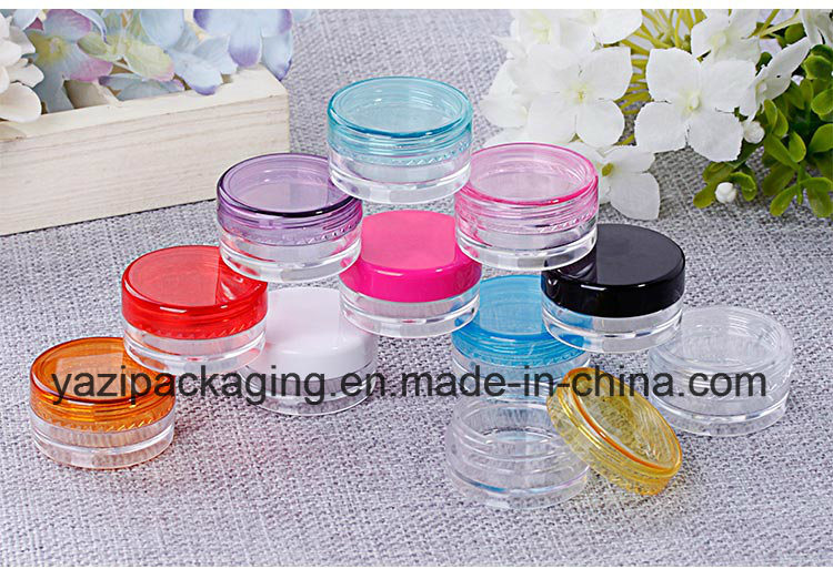 Wholesale 3G 5g Promotional Small Sample Plastic Cosmetic Cream Empty Jar for Sample Sack