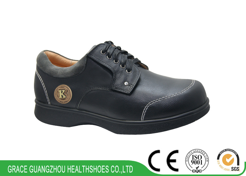 Leisure Shoes Wide Shoes for Prevent Diabetic Foot Men′s Shoes