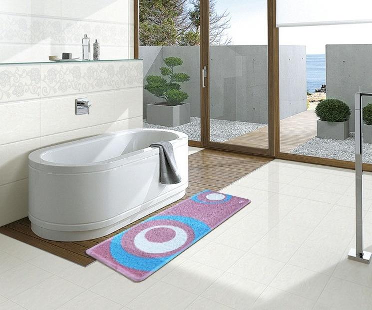 Non-Toxic PVC Coil Floor Mat Bathroom Shower Rug