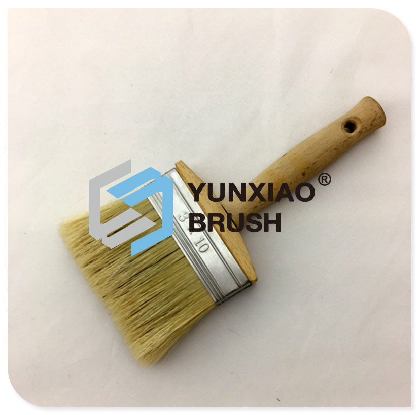 Pure Bristle Ceiling Brush with Wood Handle Paint Brush
