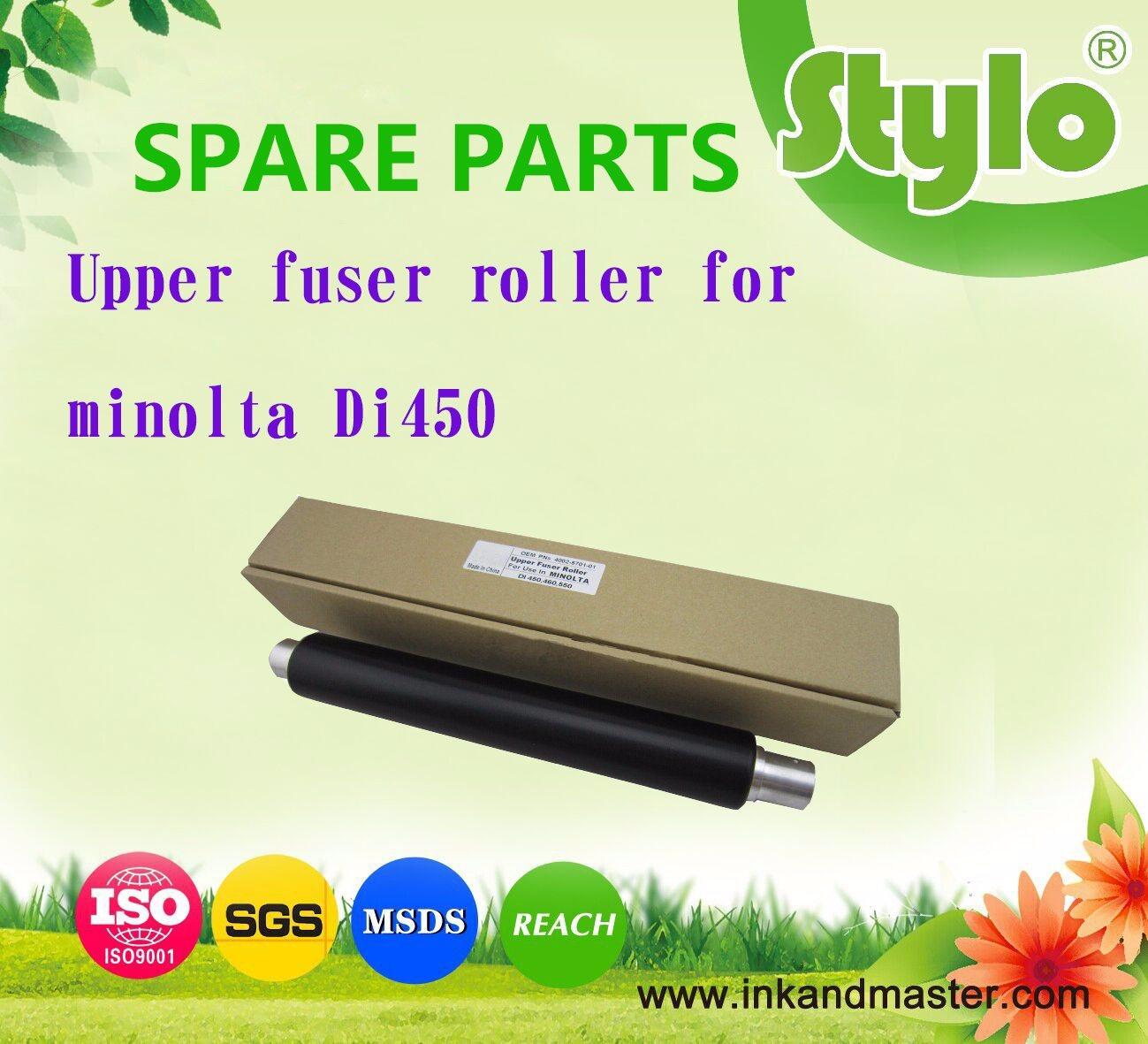Printer Spare Parts for Konica Minolta Di450 Di550 Upper Fuser Roller 4002-5701-01 Upper Roller
