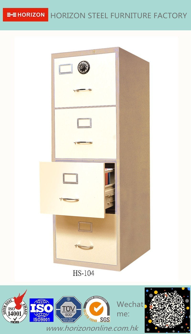 Steel Safe Cabinet with Full Width Recess Handle for F4 Foolscap Size Hanging File Storage/Metal Cabinet
