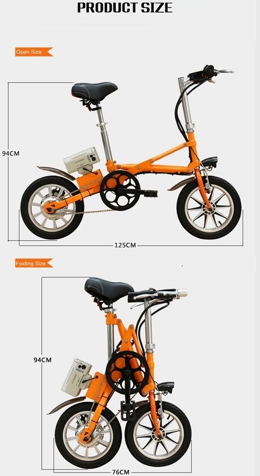 14 Inch Folding Bicycle Bike Road Bicycle V Brake Bicycle