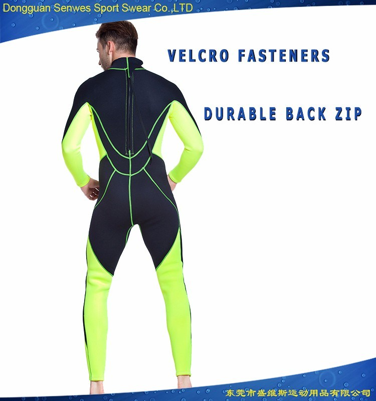 Neoprene Men′s Flexible Wetsuit for Surfing Diving Snorkeling