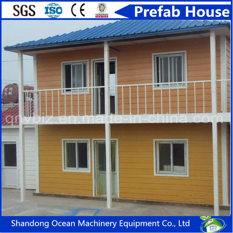 Beautiful Design European Style Prefabricated Modular House of Color Steel Sandwich Panel with Economical Budget