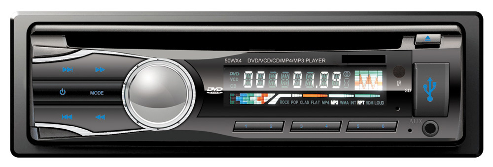 Single DIN Fixed Panel Car DVD CD for GPS