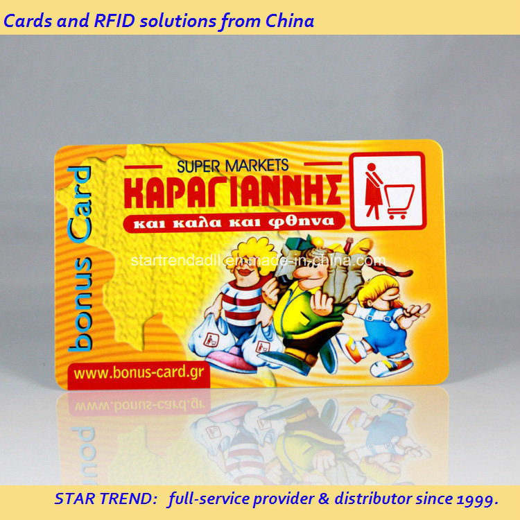 Rewards Card of PVC with Hico Magnetic Stripe for Supermarket