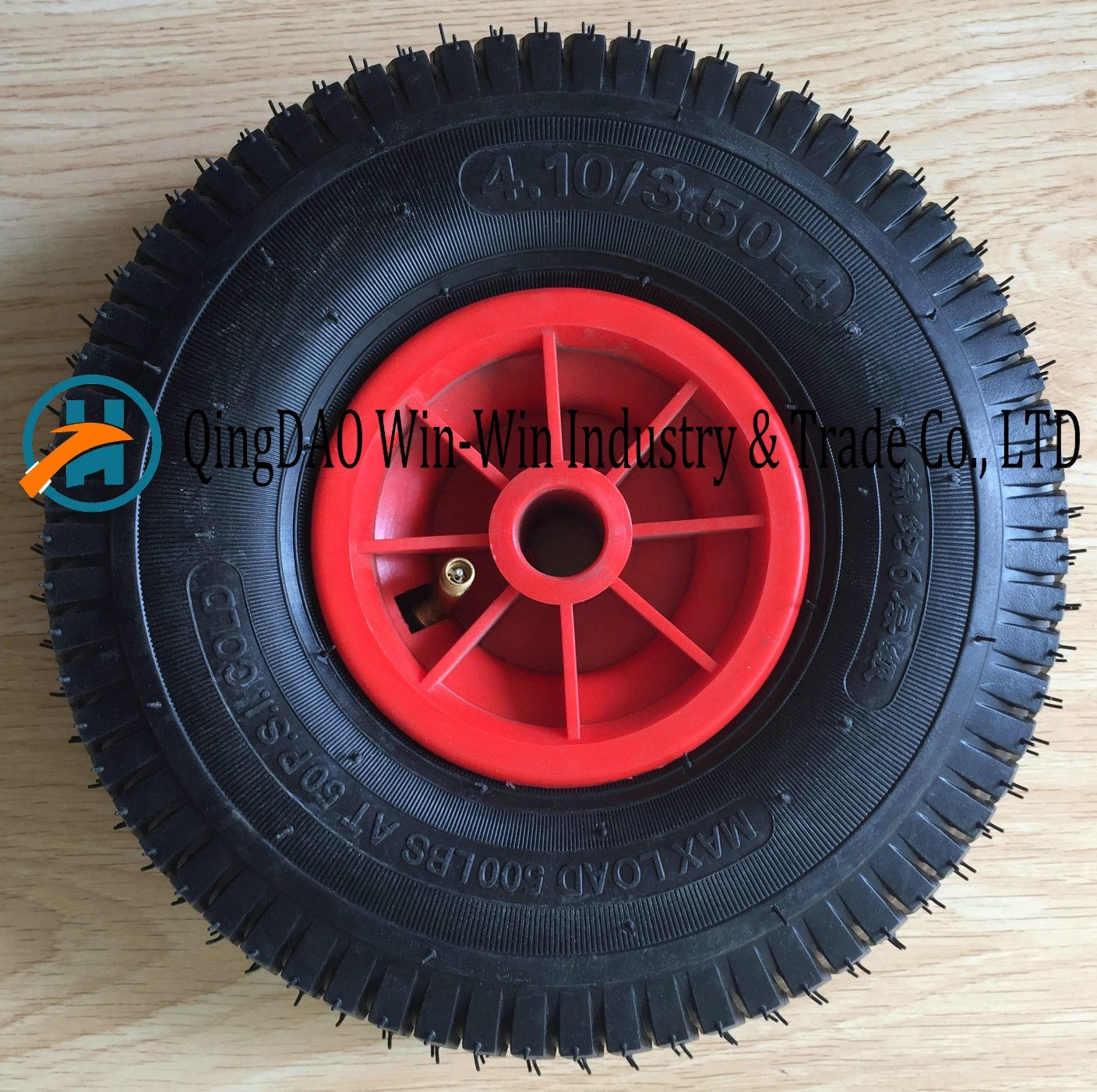 Wheelbarrow Rubber Wheel with Plastic Rim (4.10/3.50-4)