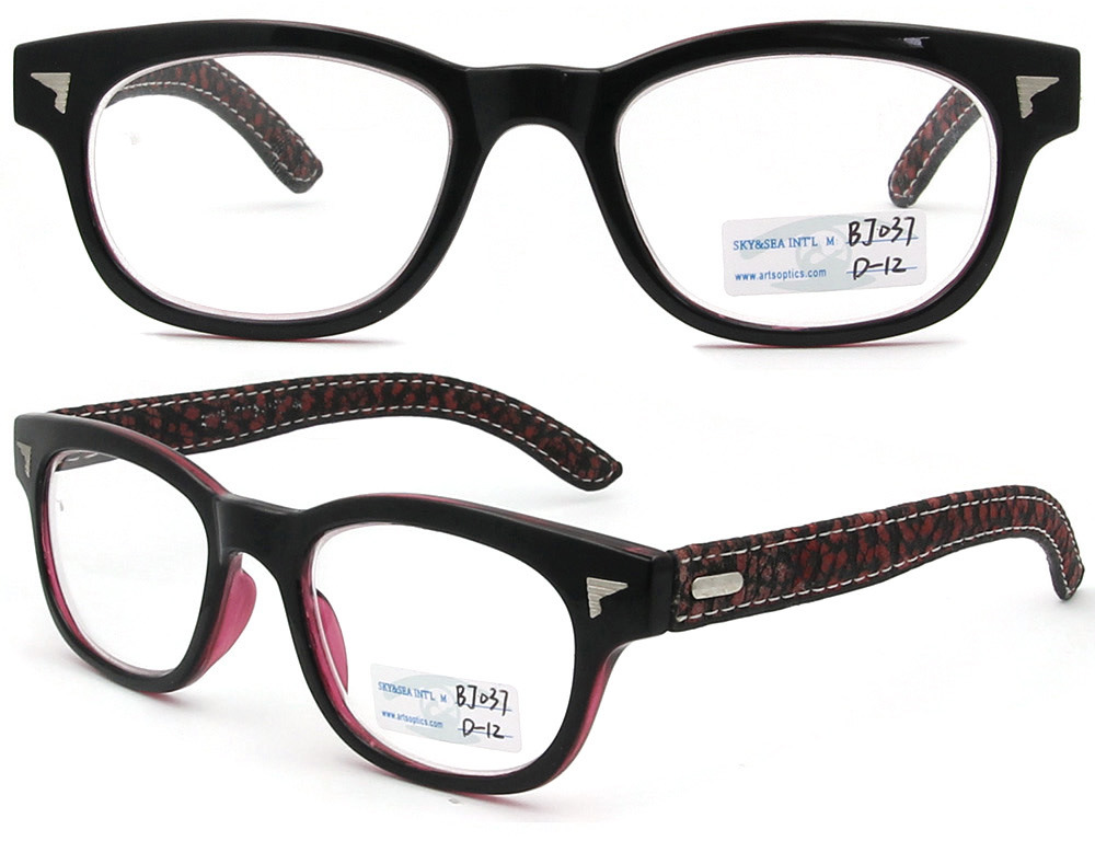 Latest Eyeglass Frame Designs : China 2012 New Design Leather Temples Optical Eyewear Cp ...
