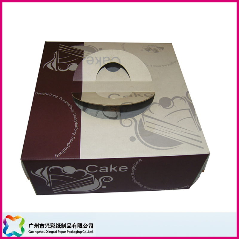 Folding Paper Packaging Box for Food/ Chocolate/ Candy/ Cake (XC-3-012)