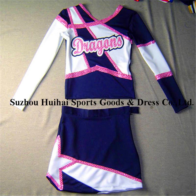 2017 Spandex Long Sleeve Cheerleading Uniforms