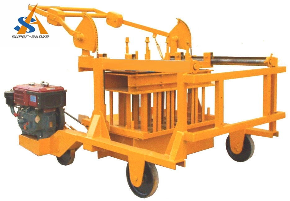 Moveable Egg Laying Block Making Machine with Diesel Engine