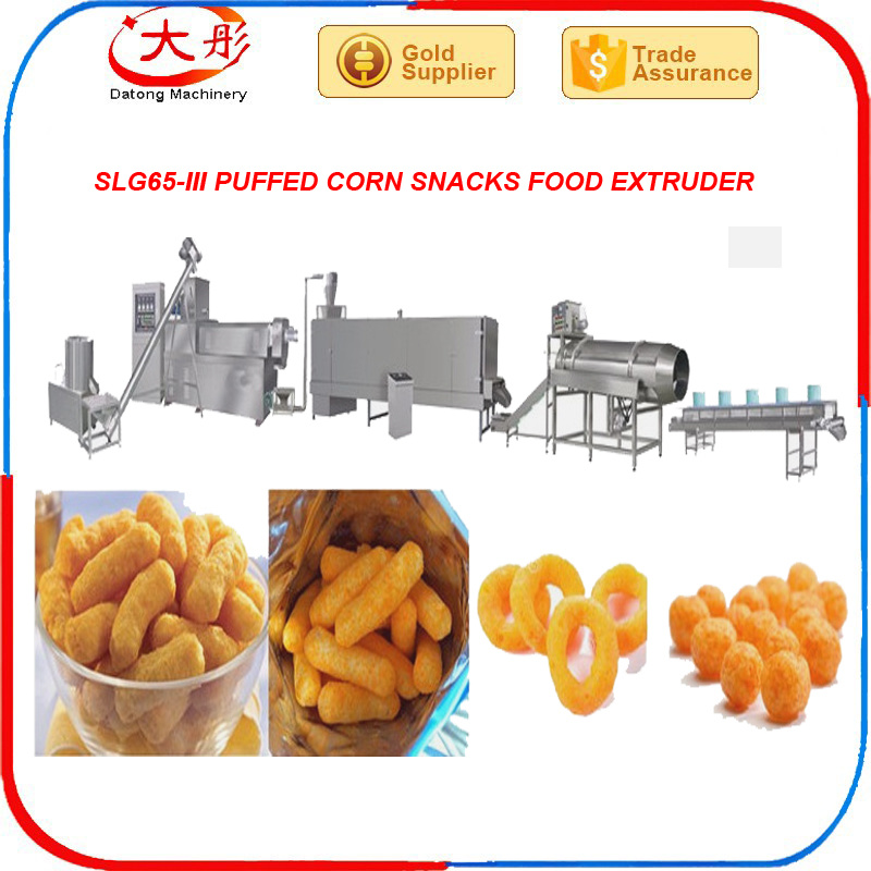 Automatic Twin Screw Extruder Food Snacks Machine