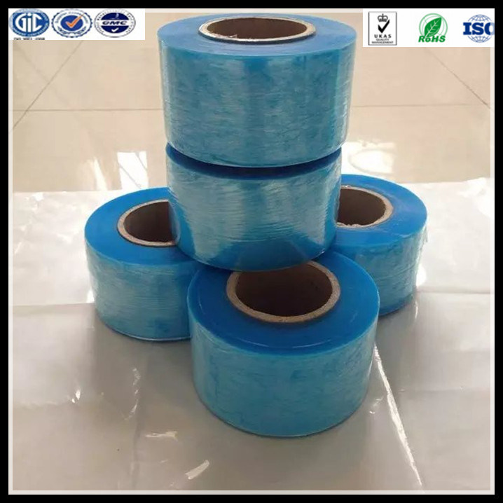 17mic Blue Stretch Protective Film LLDPE Hand Use Stretch Film