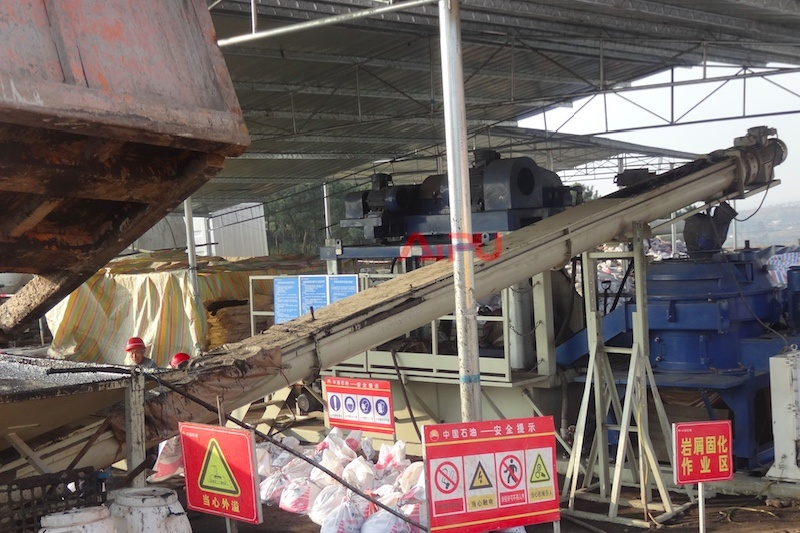 Incline Screw Conveyor for Waste Feeding in Sludge Treatment