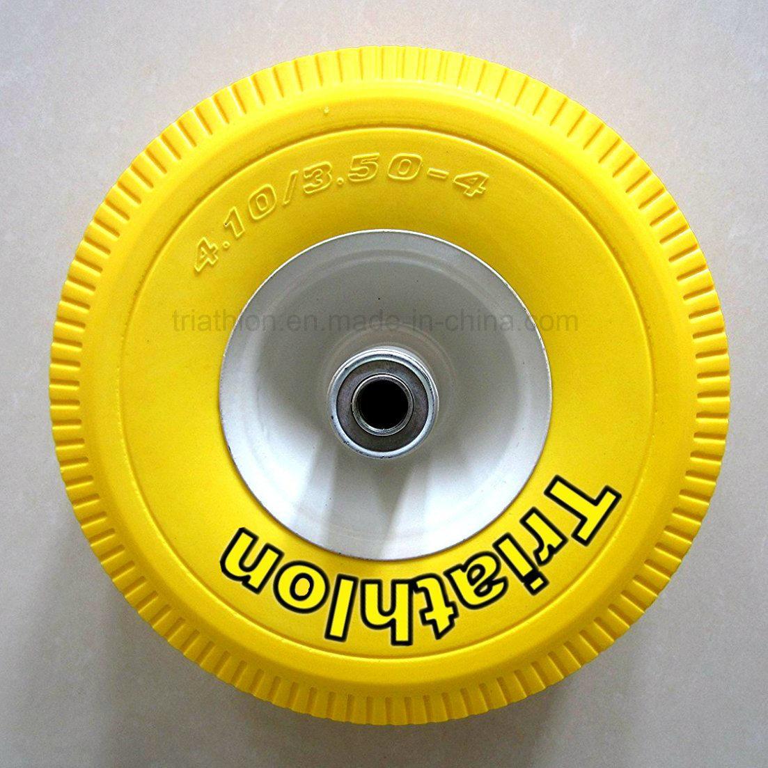 3.50-4 3.50-5 3.50-6 4.00-6 4.00-8 PU Foam Flat Free Tyre