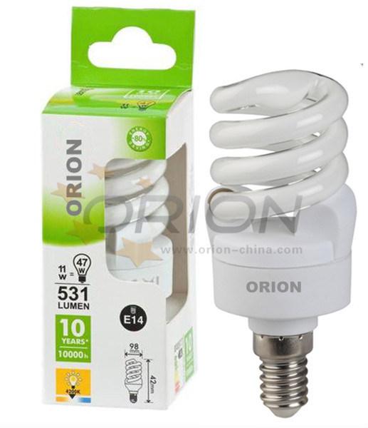 Ce Approved CFL Light Lamp 25W E27 B22 Spiral Energy Saving Bulb